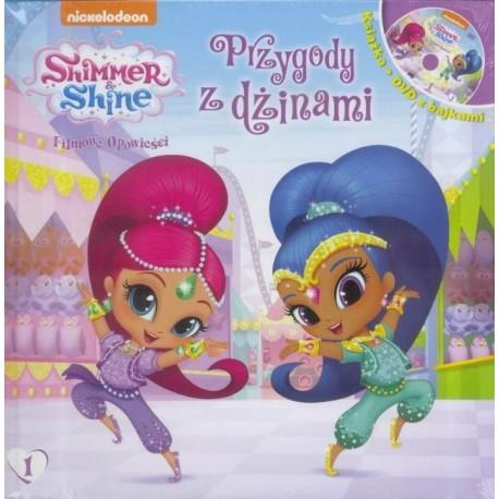 Shimmer and Shine książka z DVD 1 Przygo