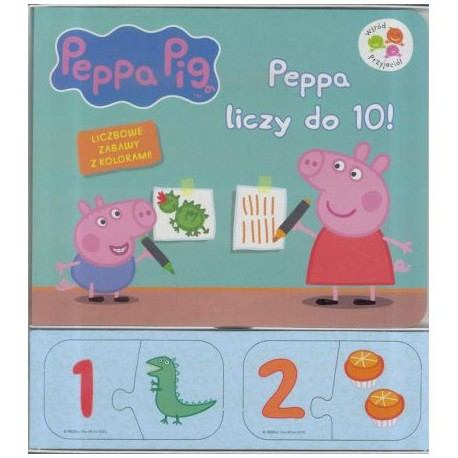Peppa Pig. Peppa liczy do 10! Wśród przyjaciół + puzzle