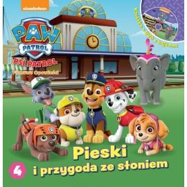 Psi patrol książka z DVD 4 Pieski i przygoda z słoniem