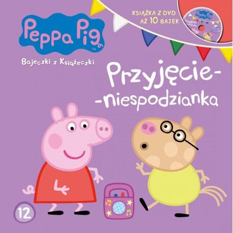 Peppa Pig Bajeczki z książeczki 12 DVD Przyjęcie niespodzianka