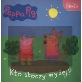 Świnka Peppa Ruchome obrazki Kto skoczy wyżej?