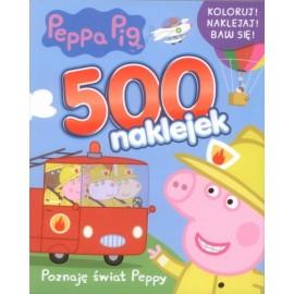 Peppa Pig 500 naklejek cz. 2 Poznaję świat Peppy