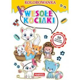 Kolorowanka z naklejkami Wesołe kociaki