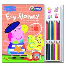 Świnka Peppa Zabawy z kredkami 3 Esy - floresy