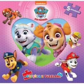 Psi Patrol Książka z puzzlami Everest i Skye