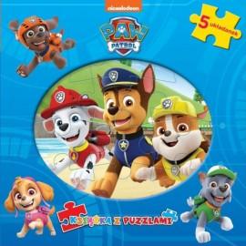 Psi Patrol Książka z puzzlami Chase