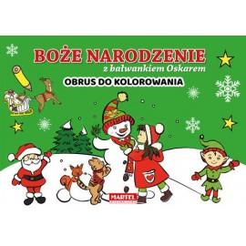 Boże Narodzenie z bałwankiem Obrus