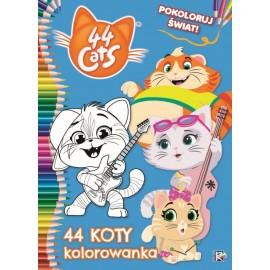 44 koty Pokoloruj świat! 44 koty kolorow