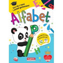 Kolorowanka z naklejkami Alfabet