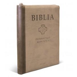 Biblia Pierwszego Kościoła PU brąz suwak