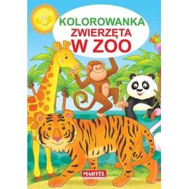 Zwierzęta w ZOO kolorowanka